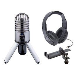 Image for Meteor USB Microphone with Headphones and Headphone Holder from SamAsh