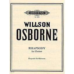 CF Peters Osborne Rhapsody For Clarinet