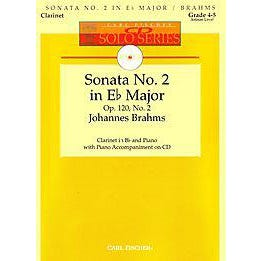 Image for Sonata No. 2 in Eb Major, Op. 120, No. 2 for Clarinet (Book and CD) from SamAsh