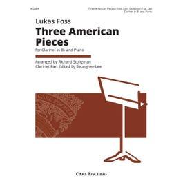 Carl Fischer Three American Pieces for Clarinet in B-Flat and Piano