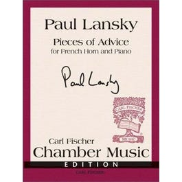 Image for Lansky-Pieces of Advice for Horn and Piano from SamAsh