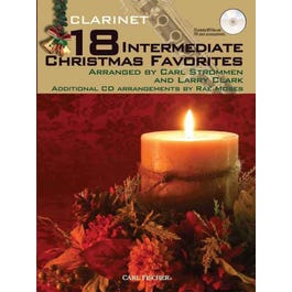 Carl Fischer 18 Intermediate Christmas Favorites - Clarinet-Book and CD
