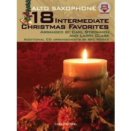 Carl Fischer 18 Intermediate Christmas Favorites - Alto Saxophone-Book + MP3