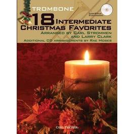 Carl Fischer 18 Intermediate Christmas Favorites - Trombone-Book and CD