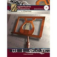 Image for Repertoire Classics for Clarinet (Book and CD) from SamAsh