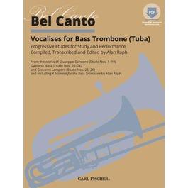 Carl Fischer Bel Canto Vocalises for Bass Trombone Tuba