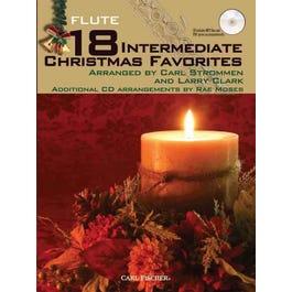 Carl Fischer 18 Intermediate Christmas Favorites - Flute-Bk +MP3
