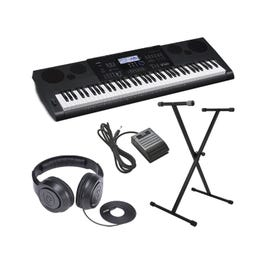 Image for WK-6600 Ultra-Premium Keyboard Package With Headphones, Stand, Sustain Pedal and Power Supply from SamAsh