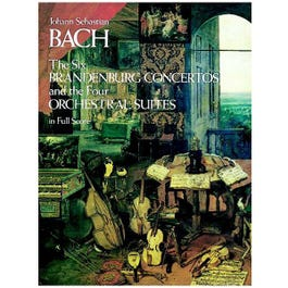 Image for JS Bach 6 Brandenburg Concertos and the 4 Orchestral Suites (Full Score) from SamAsh