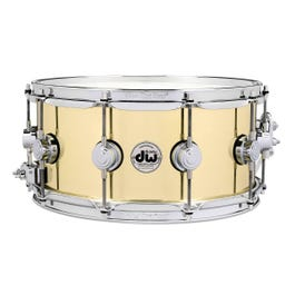 """Drum Workshop Collector's Series 6.5""""x14"""" Polished Bell Brass Snare Drum (Demo)"""