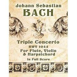 Image for JS Bach Triple Concerto BWV 1044 for Flute Violin and Harpsichord (Full Score) from SamAsh
