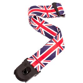 """D'Addario 2"""" UK Polyester Guitar Strap with Planet Lock Ends"""
