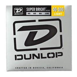 Dunlop Super Bright Nickel Wound Bass Strings, Light, 40-100
