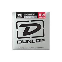 Dunlop Super Bright Nickel Wound Bass Strings, Medium, 45-105