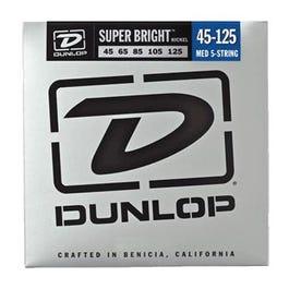 Dunlop Super Bright Nickel Wound Bass Strings, Medium-5, 45-125