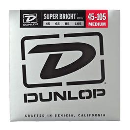 Dunlop Super Bright Steel Bass Strings, Medium, 45-105
