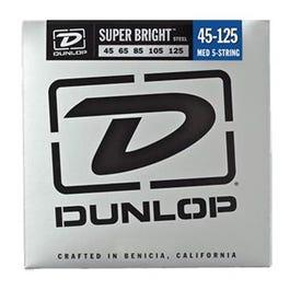 Dunlop Super Bright Steel Bass, Medium 5-String, 45-125