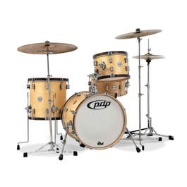 Image for Concept Maple Classic 3-Piece with Wood Hoops Shell Kit - Natural with Walnut Hoops from SamAsh