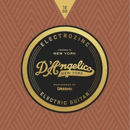 D'Angelico JAZZ 12's, Electrozinc Electric Guitar Strings, 12-52, Light, Wound Third