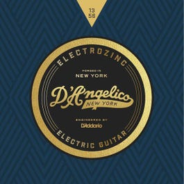 D'Angelico JAZZ 13's Electrozinc Electric Guitar Strings, 13-56, Medium, Wound Third