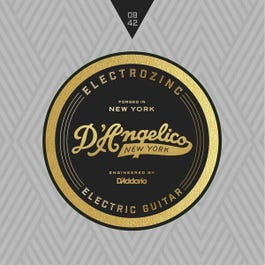 D'Angelico ROCK 9's Electrozinc Electric Guitar Strings, 9-42