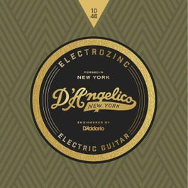 D'Angelico ROCK 10's Electrozinc Electric Guitar Strings, 10-46