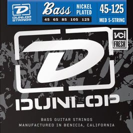 Image for DBN45125 Nickel Medium 5-String Electric Bass Strings 45-125 from SamAsh