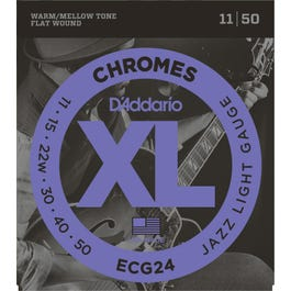 Image for ECG24 Chromes Flat Wound Electric Guitar Strings, Jazz Light from SamAsh