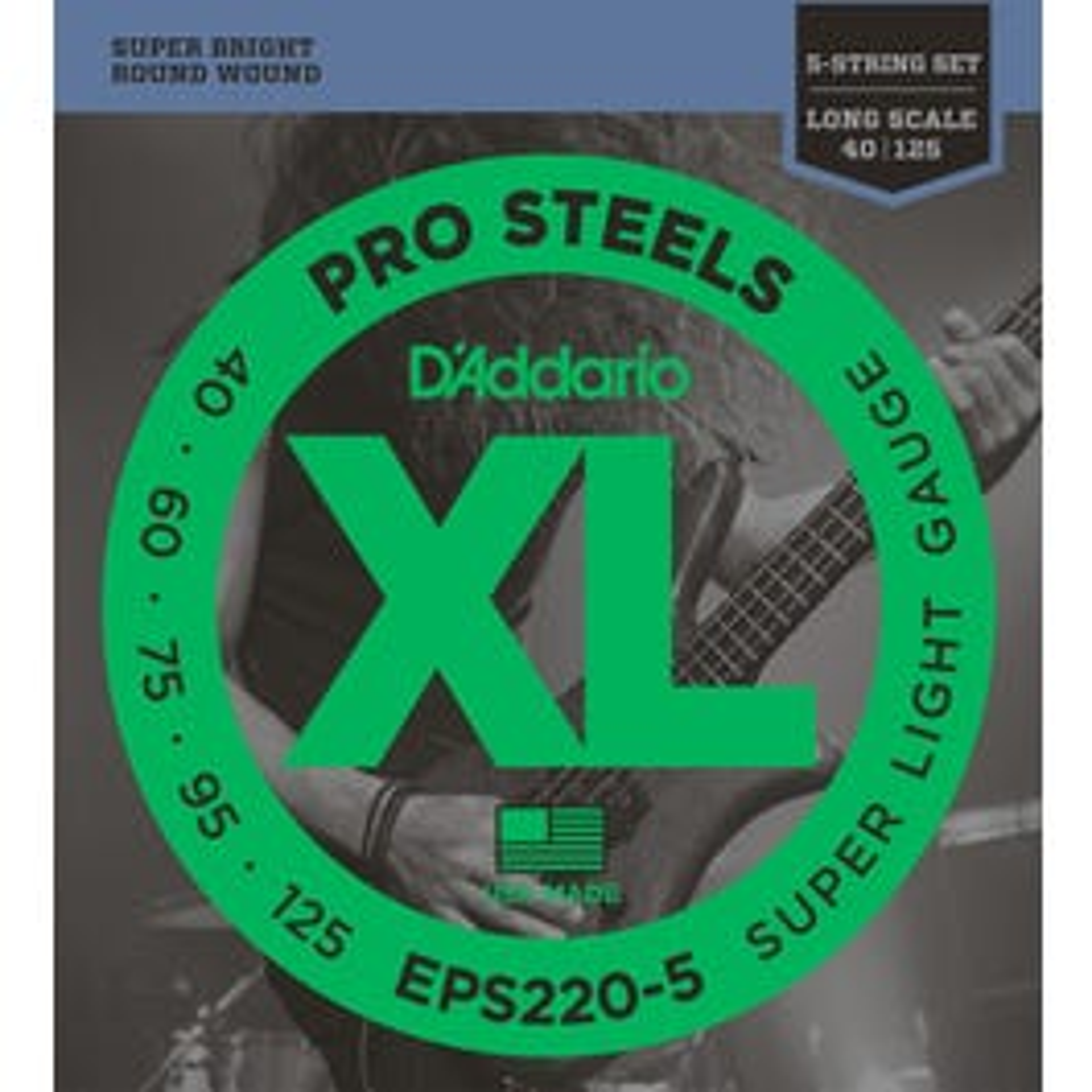 Image for EPS220 5 Super Light ProSteels Electric Bass 5 String Bass String Set from SamAsh