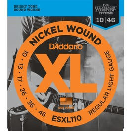 Image for ESXL110 XL Light Double Ball End (10-46) Electric Guitar Strings from SamAsh