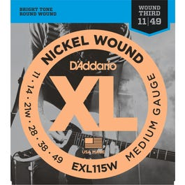 Image for EXL115W XL Blues/Jazz Rock with Wound 3rd Electric Guitar Strings from SamAsh