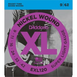 Image for EXL120 XL Super Light (9-42) Electric Guitar Strings from SamAsh