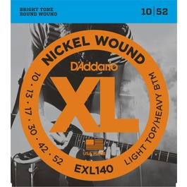 Image for EXL140 XL Light Top/Heavy Bottom Electric Guitar Strings (10-52) from SamAsh