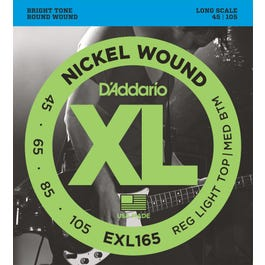 Image for EXL165 Reg Light Top Med Bottom Nickel Wound Long Scale Electric Bass 4 String S from SamAsh