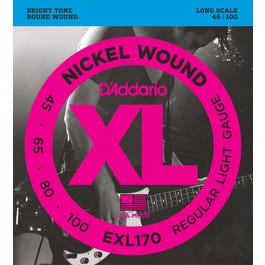 Image for EXL170 XL Reg Light Nickel Wound Long Scale Electric Bass 4 String Set (45-100) from SamAsh