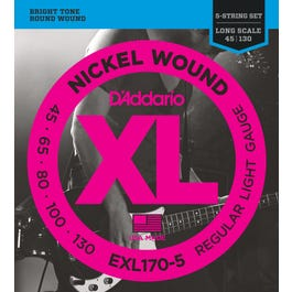Image for EXL170 5 XL Reg Light Nickel Wound Long Scale Electric Bass 5 String Set (45-130 from SamAsh