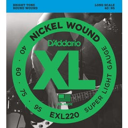 Image for EXL220 XL Super Light Nickel Wound Long Scale Electric Bass 4 String Set (40-95) from SamAsh