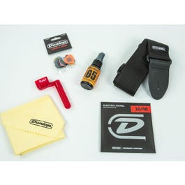 Dunlop Electric Guitar Accessory Pack With Strings, Picks, Strap,Winder & Polish