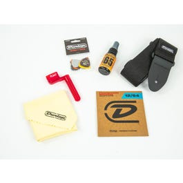 Dunlop Acoustic Guitar Accessory Pack With Strings, Picks, Strap,Winder & Polish