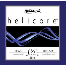 D'Addario Helicore Solo 3/4 Bass String Set