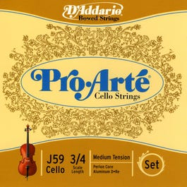 Image for Pro Arte 3/4 Size Cello String Set from SamAsh