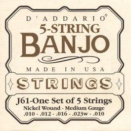 Image for J61 Medium Nickel 5 String Set Banjo Strings (10-23) from SamAsh