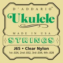 Image for J65 Medium Clear Nylon Ukulele Strings from SamAsh