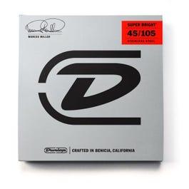 Dunlop DBMMS45105 Marcus Miller Super Bright 4-String Bass Set, 45-105