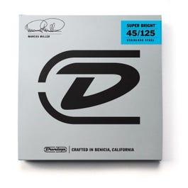 Dunlop DBMMS45125 Marcus Miller Super Bright 5-String Bass Set, 45-125