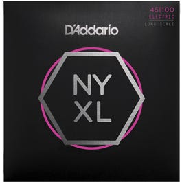 D'Addario NYXL45100 Nickel Wound Bass Guitar Strings, Regular Light, 45-100, Long Scale