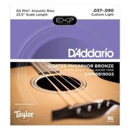 D'Addario EXPPBB190GS Coated Phosphor Bronze Acoustic, Taylor GS Mini Scale, 37-90