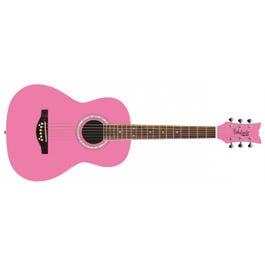 Image for Junior Miss Acoustic Guitar (Bubble Gum Pink) from SamAsh