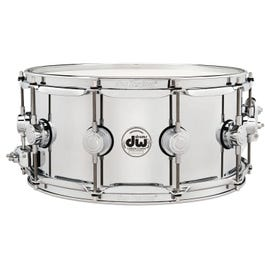 """Drum Workshop Collector's Series Polished Chrome over Steel Snare Drum - 6.5"""" x 14"""""""