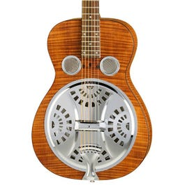 Image for Hound Dog Deluxe Round Neck Resonator Acoustic-Electric Guitar from SamAsh